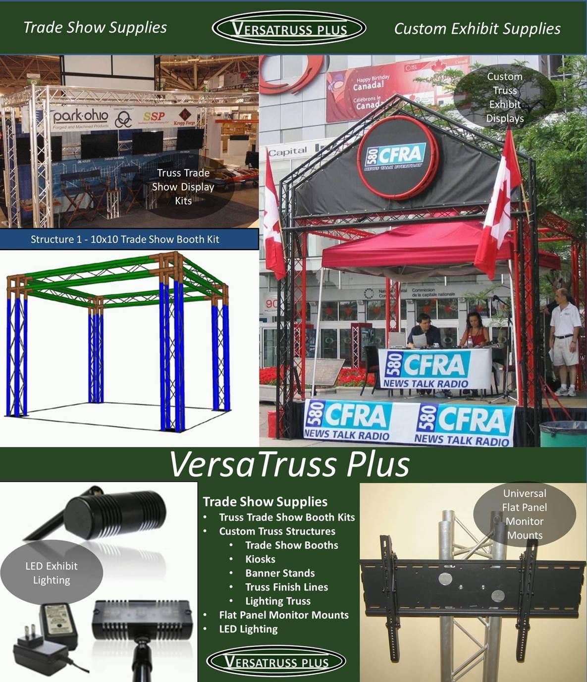 Trade Show Booth Equipment : Trade show supplies modular truss booths
