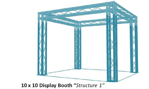 10x10 Trade Show Display Booth Structure 1