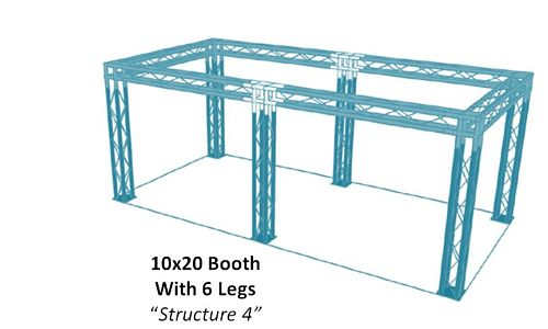 """10x20-Booth-With-6-Legs-""""Structure-4"""