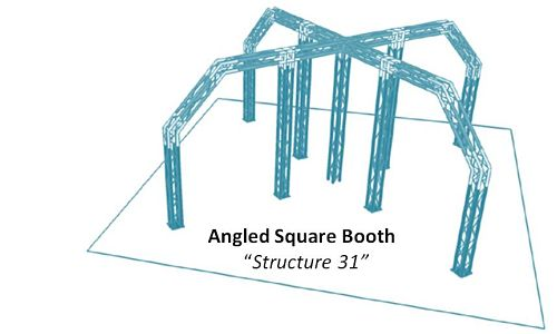 Angled Square Booth Structure 31