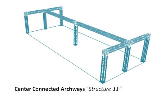 Center Connected Archways Structure 11