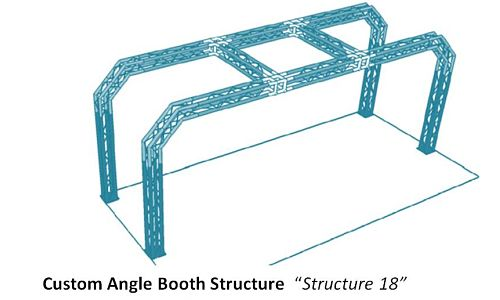 """Custom Angle Booth Structure  """"Structure 18"""""""
