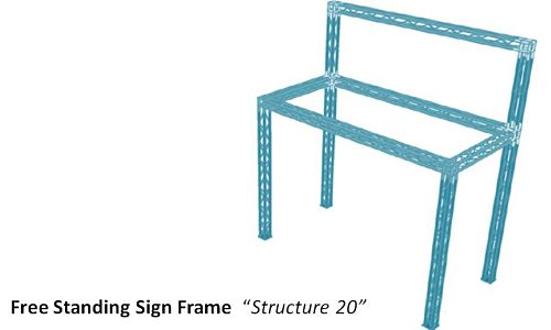 """Free Standing Sign Frame  """"Structure 20"""""""