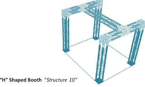 H Shaped Trade Show Display  Structure 10