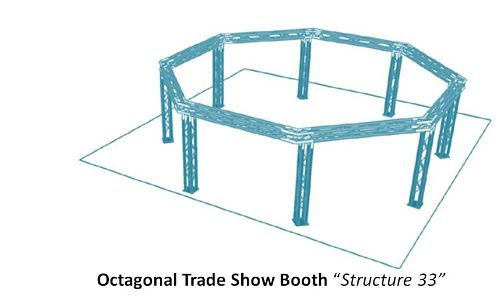 """Octagonal Trade Show Booth """"Structure 33"""""""