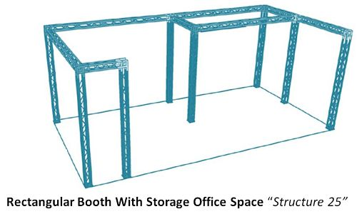 """Rectangular Booth With Storage Office Space """"Structure 25"""""""