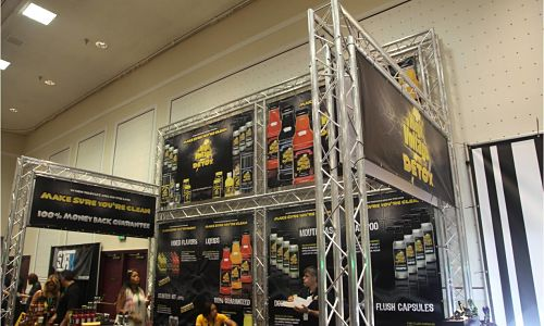 Stepped Trade Show Truss Booth