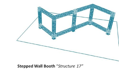 """Stepped Wall Booth """"Structure 17"""""""