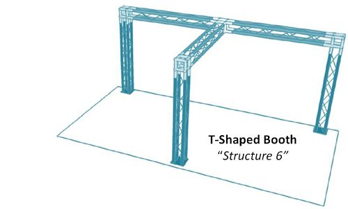 """T-Shaped Booth """"Structure 6"""""""