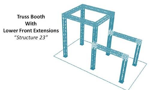 Truss Booth With Lower Front Extensions Structure 23