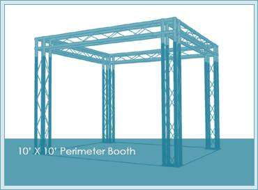 10 x 10 trade show booth structure