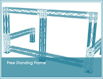 Free standing banner stand