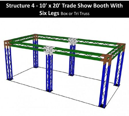10 x 20 Trade Show Booth With Six Legs