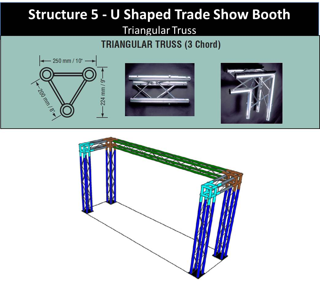 10' U Shaped Trade Show Booth Triangular Truss