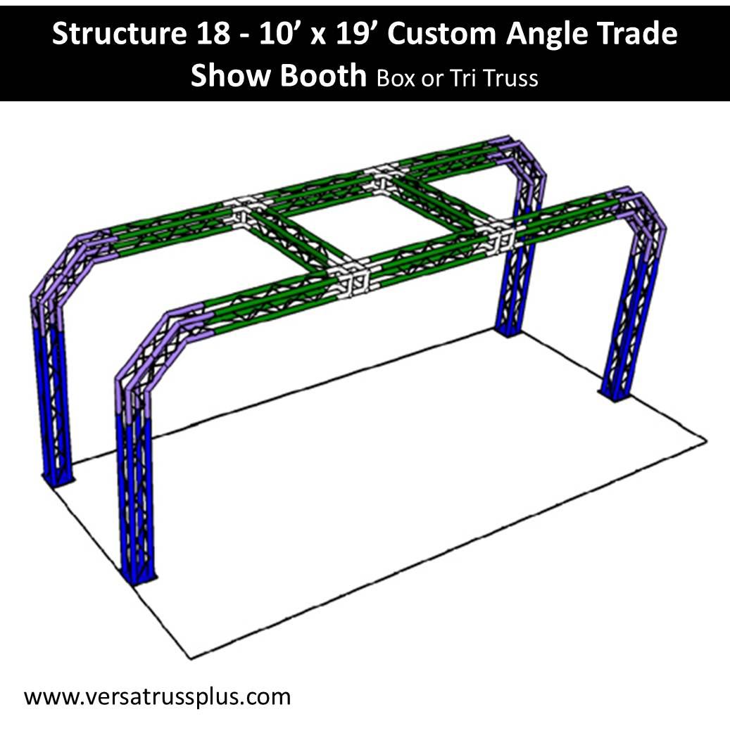 10 x 19 Custom Angle Trade Show Booth