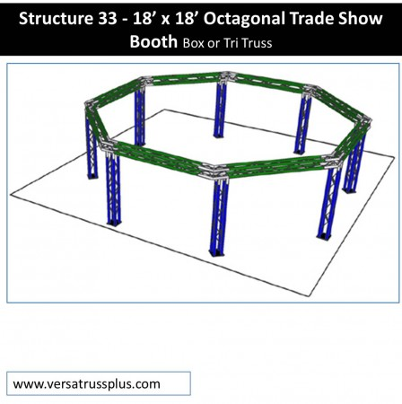 18 x 18 Octagonal Trade Show Booth