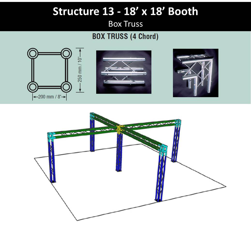 18 x 18 Trade Show Booth Spec Sheet Box Truss with center post