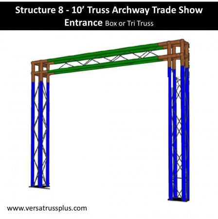 Archway Display Truss 10 feet wide