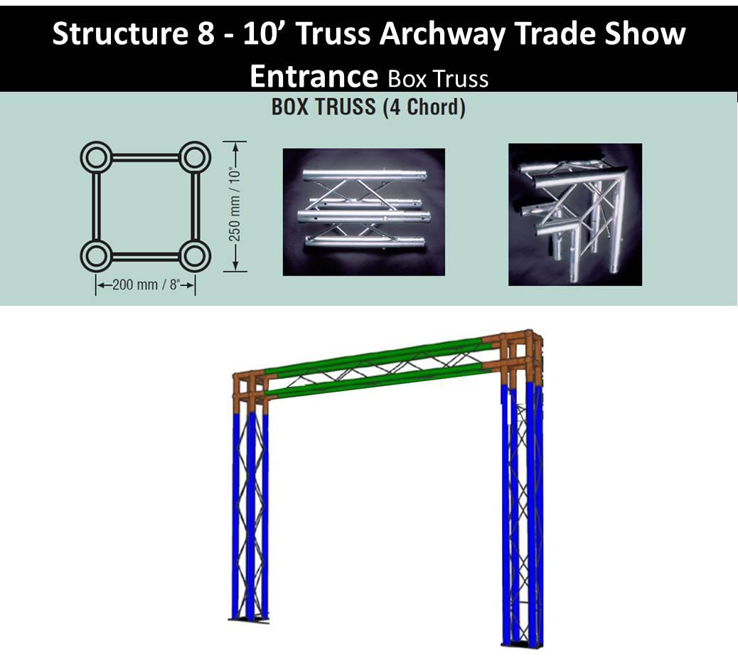 Archway Display truss 10 wide-box-truss