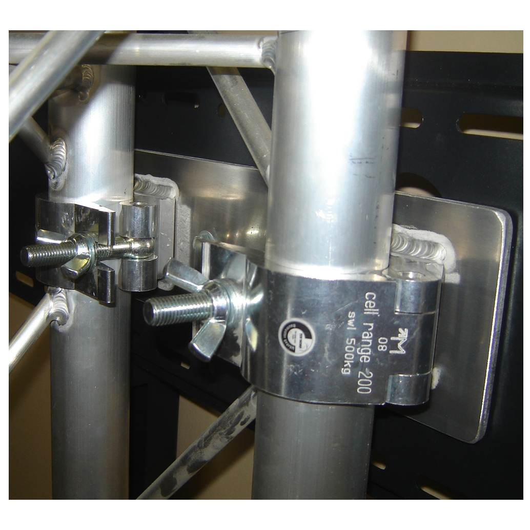 Flat Panel Monitor Mounts for Trade Show Booths mounting hardware