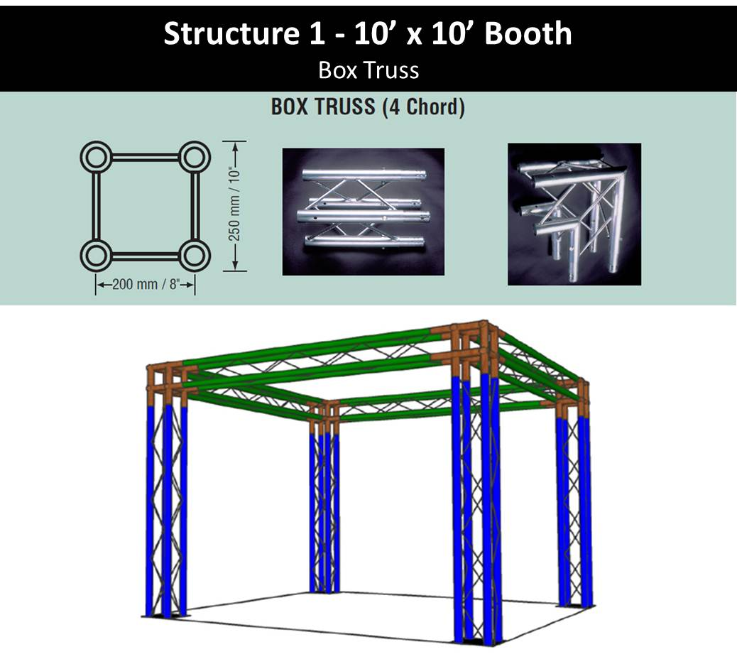 Exhibition Booth Structure : Truss trade show booth