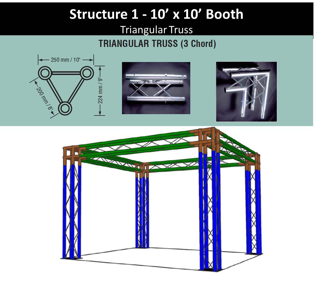 Structure 1 10 x 10 Trade Shop Booth Triangular Truss