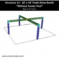 18 x 18 Trade Show Booth no center post