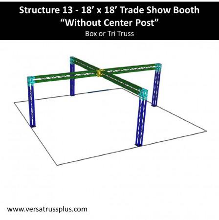 18 x 18 Trade Show Booth no center post