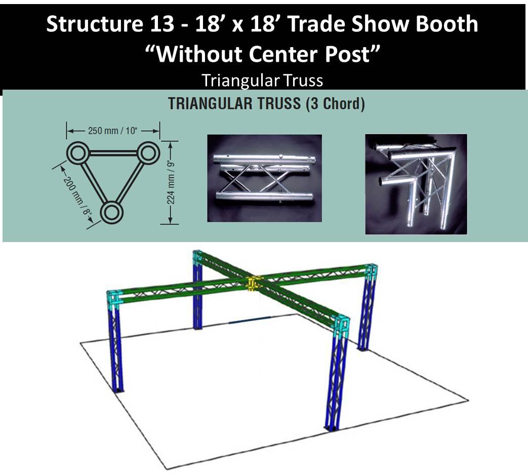 18 x 18 Trade Show Booth Tri Truss no center post