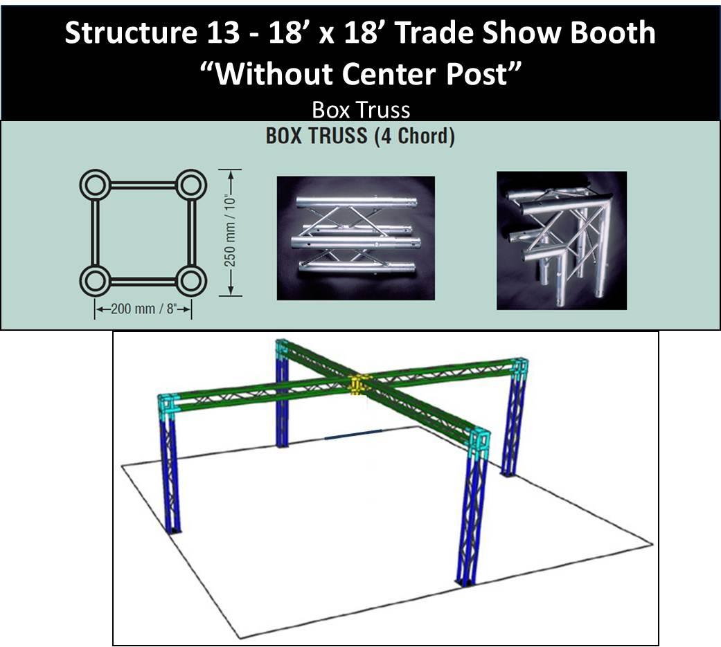 18 x 18 Trade Show Booth Box Truss No Center Post