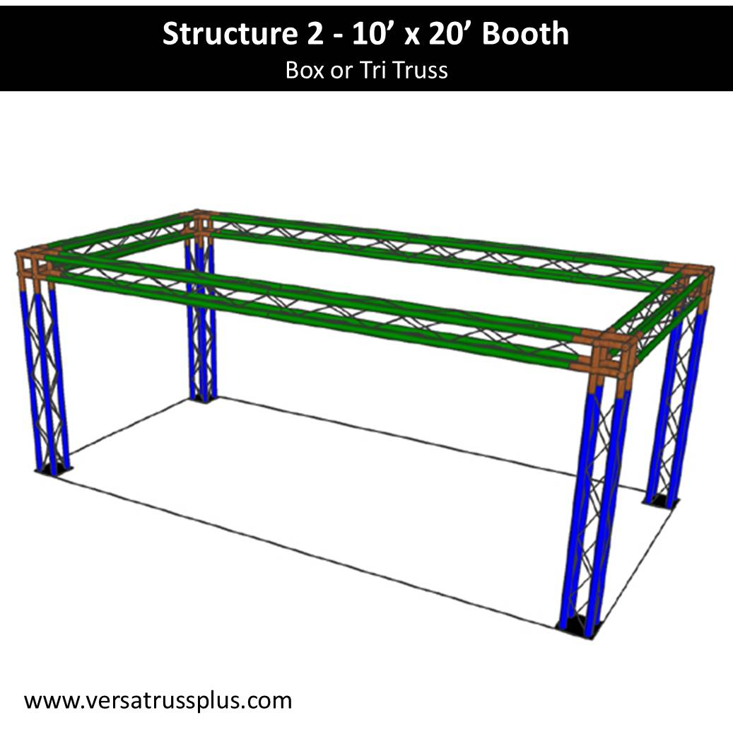 Trade Show Booth 10 x 20 with 4 legs