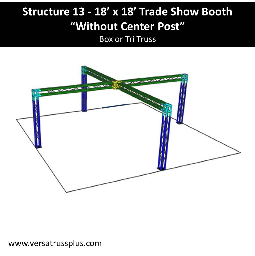 "Trade-Show-Booth-18-x-18 ""Without Center Post"""
