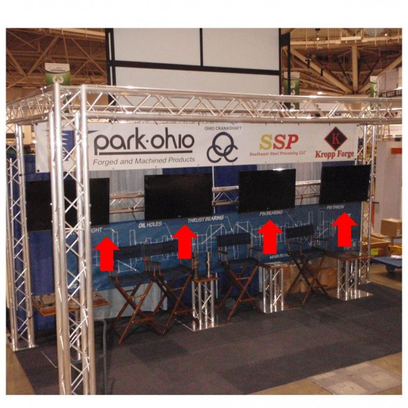 Trade Show Booth Monitor Mounts