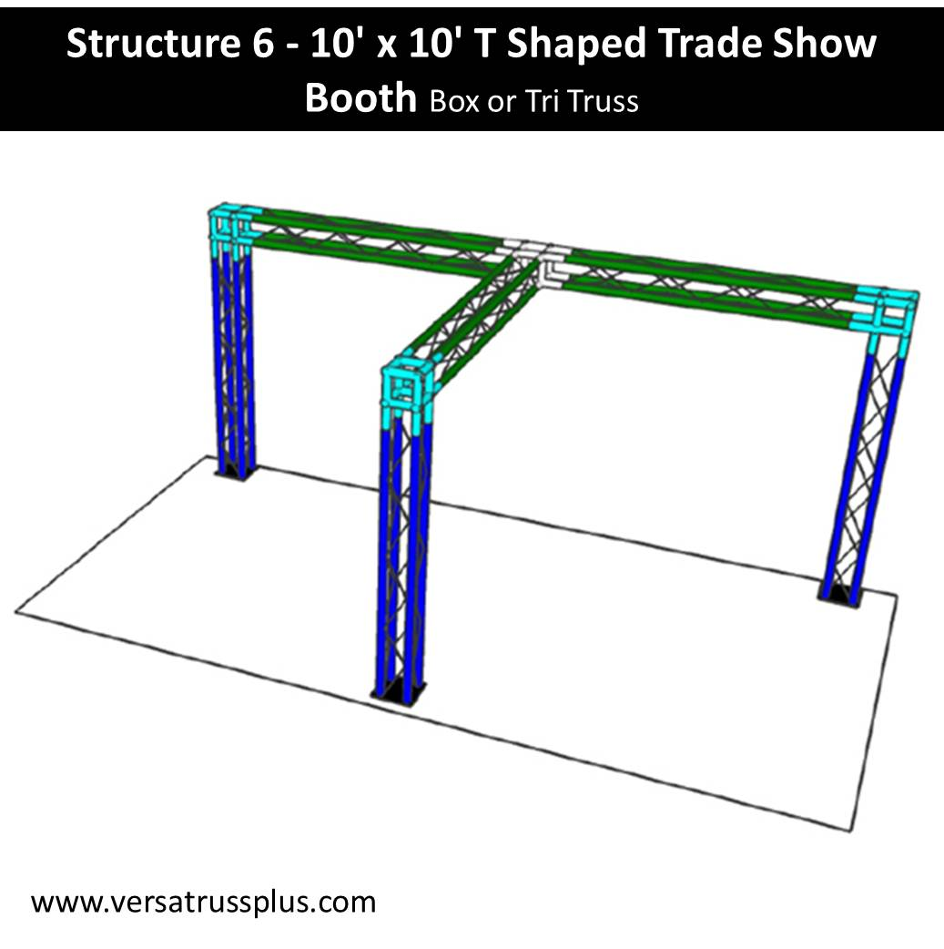 Trade Show Booth T Shape 10 x 10