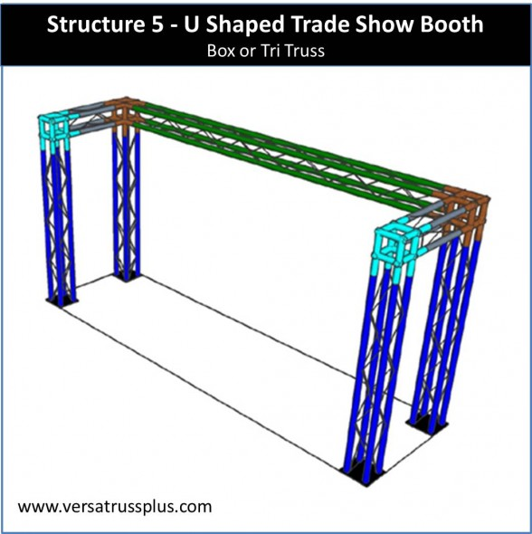 Trade Show Booth U Shape 10 x 5