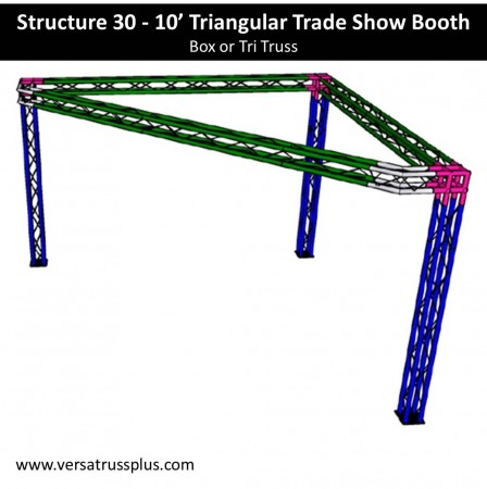Triangular Trade Show Booth 10