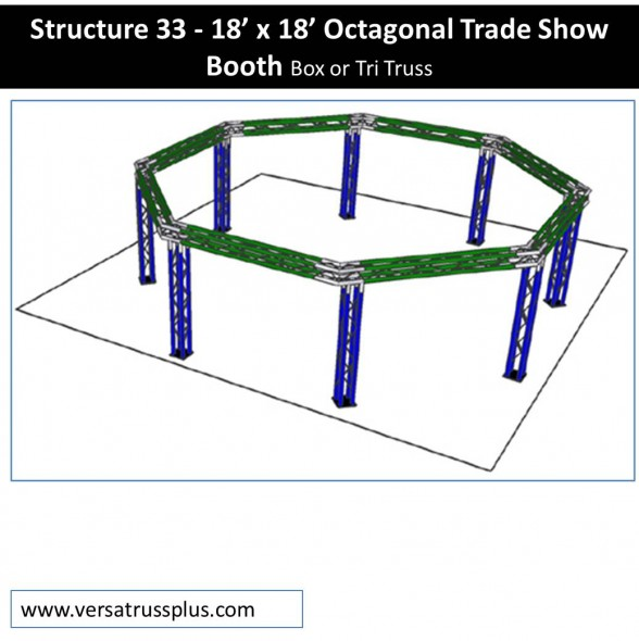 Octagonal trade show booth 18 x 18