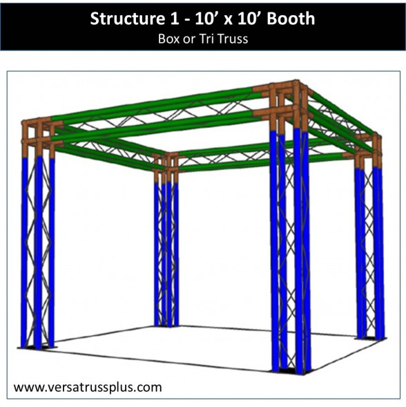 10x10 Aluminum Truss Trade Show Exhibit Booths