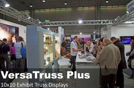 10x10 exhibit truss displays