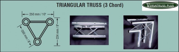 three cord exhibit systems truss