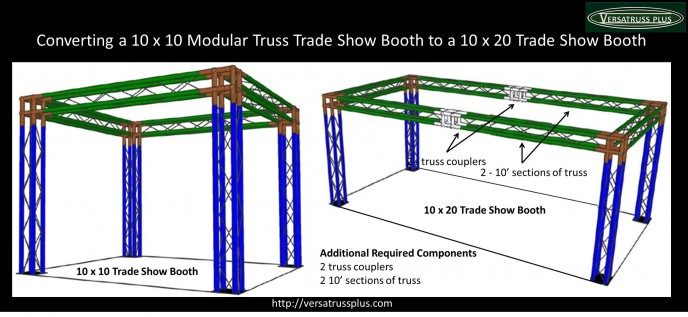 Converting a 10 x 10 Trade Show Booth to a 10 x 20 Trade Show Booth