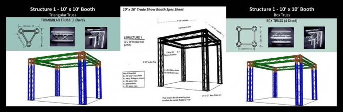 truss trade sho booth kits and exhibits