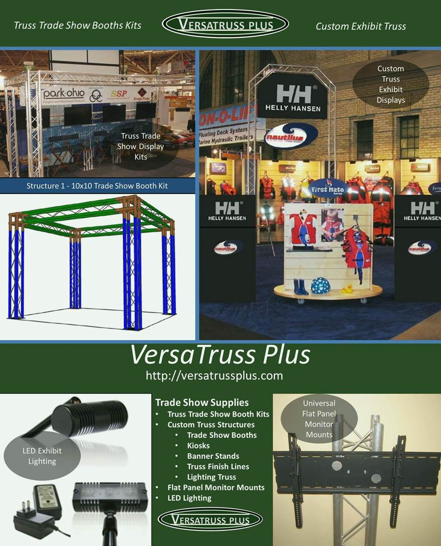 Trade Show Booth Exhibitors : Custom exhibitor truss and trade show booth manufacturer