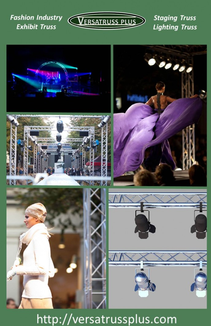 Fashion Show Exhibit Staging Lighting Truss