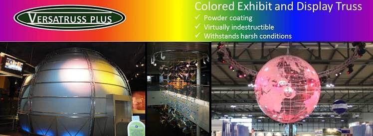 Museum Exhibit Truss Custom Colored Museum Lighting Truss Banner