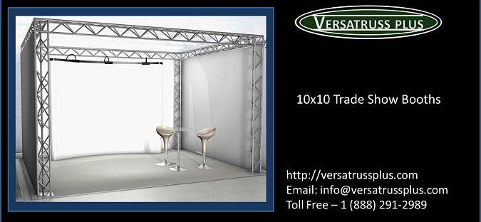 10x10 aluminum truss trade show booths