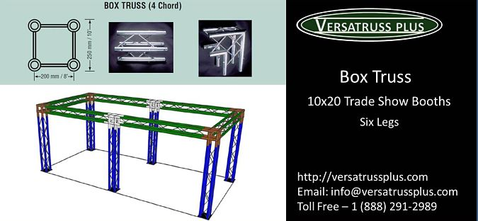 10x20 Trade Show Booth Box Truss Six Legs