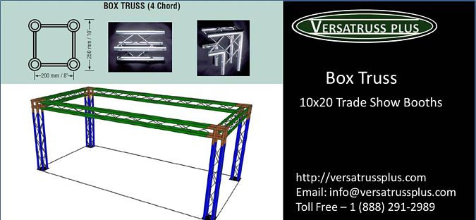 10x20 Trade Show Booth Box Truss