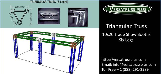 10x20 Trade Show Booth Triangular Truss Six Legs