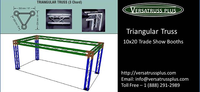10x20 Trade Show Booth Triangular Truss